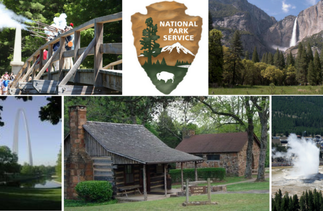 collage of national park service parks