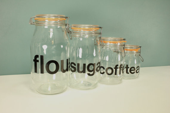 glass canister jars