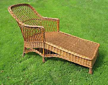 willow wicker chaise