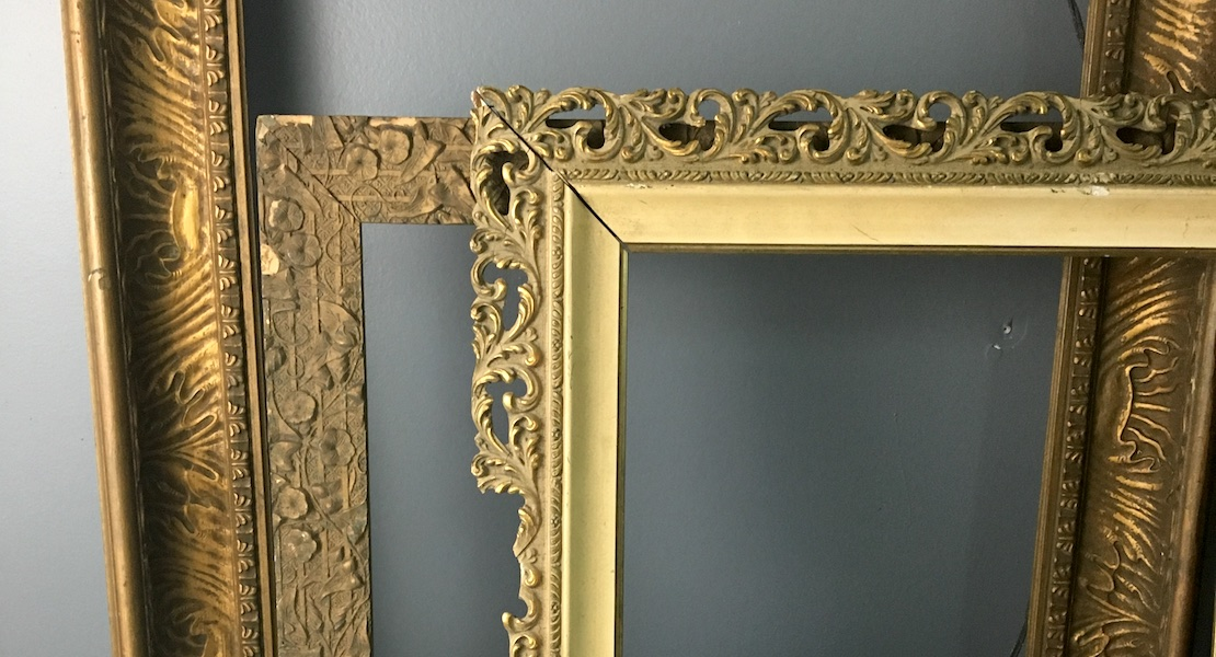 Decorating with gesso frames - Vintage Unscripted