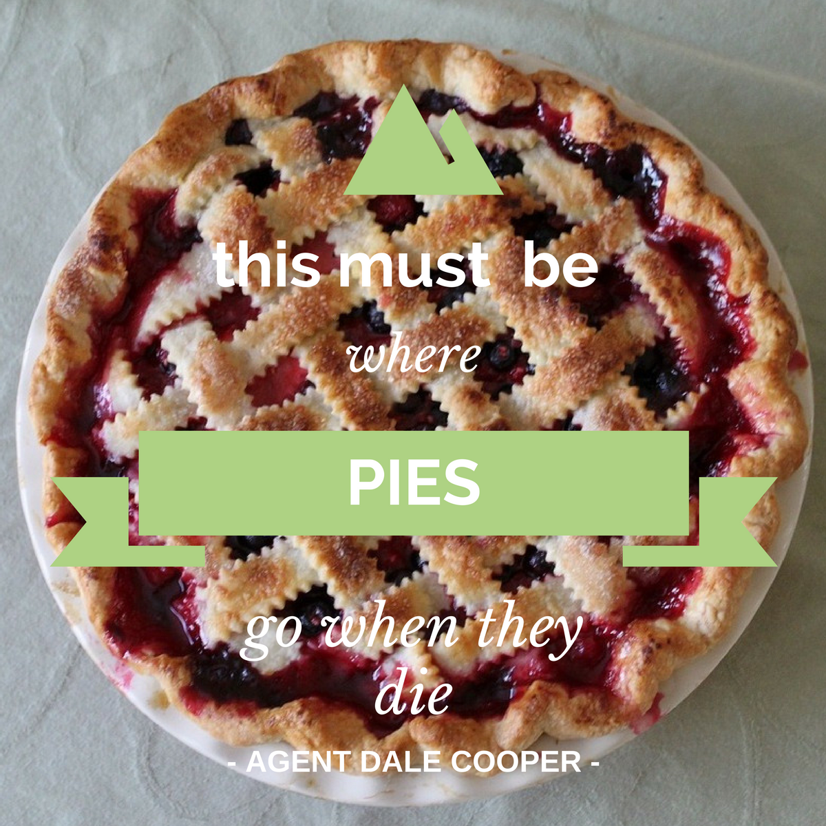 twin peaks pie quote