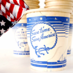 Vintage paper coffee cups, 1940's