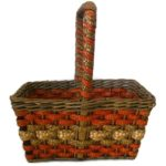 Antique NY country store advertising basket