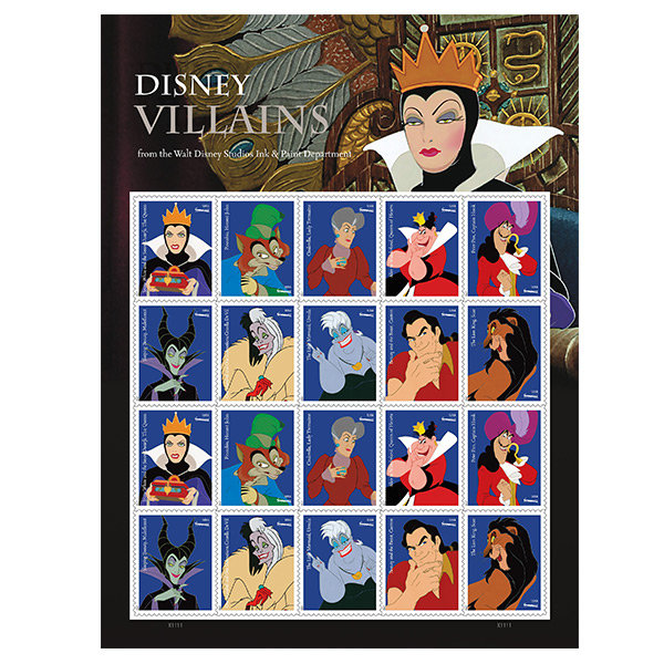 disney villain stamps