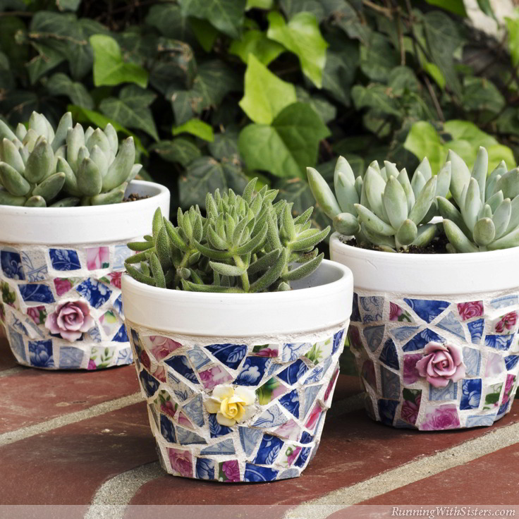 china flower pot mosaics