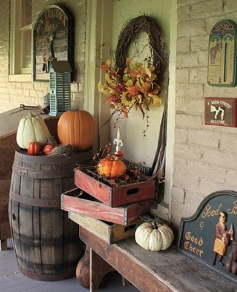 A Round Up Of Vintage Porch Decor For Halloween
