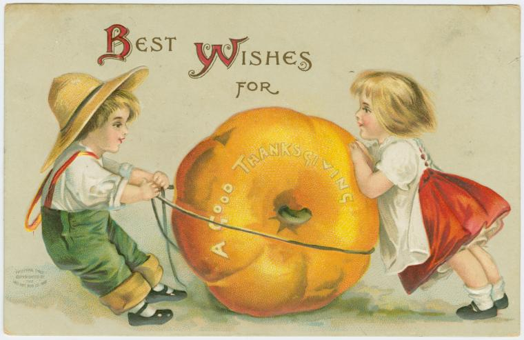 Thanksgiving greetings with vintage postcards vintage unscripted best wishes for a good thanksgiving m4hsunfo